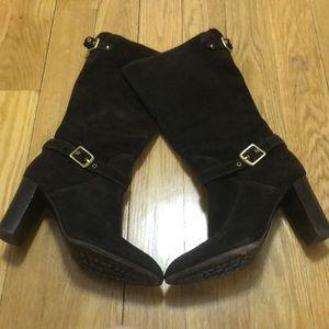 Heeled coach boots